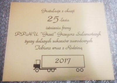 grawerowany dyplom