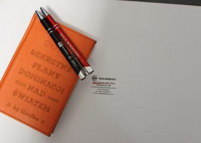 kalendarz i długopisy z grawerem